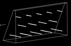 重力式擁壁 ワイヤーフレーム