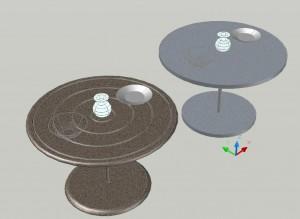 2つのテーブル