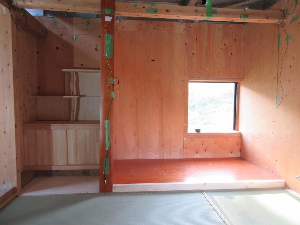 茶室の棚完成