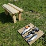 棚づくりの道具たち