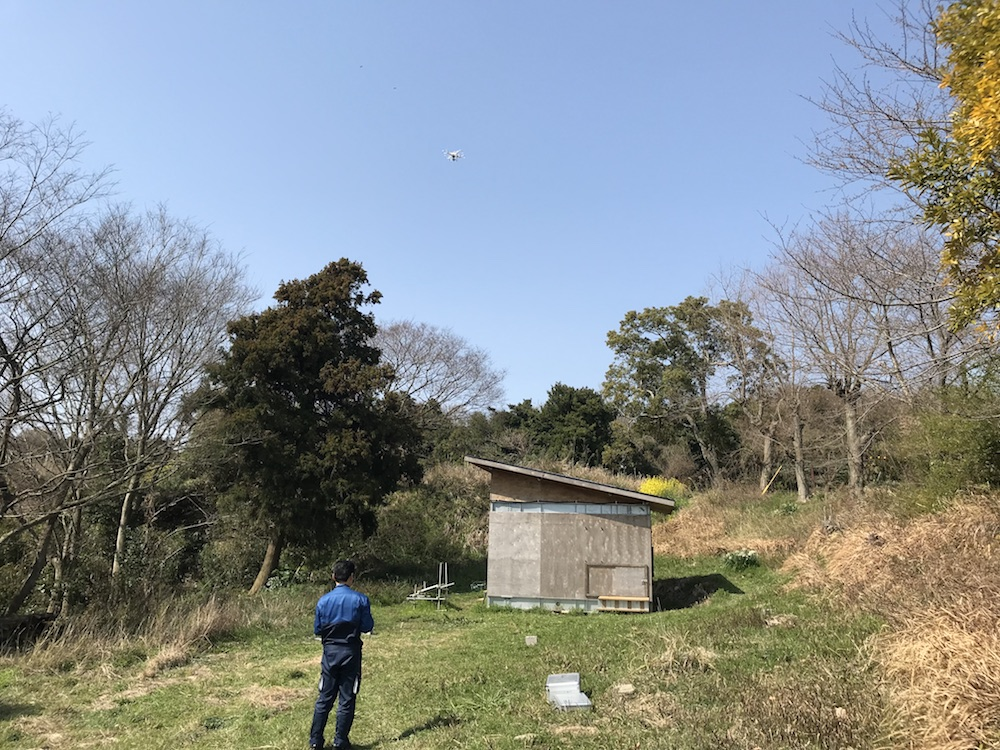 UAVドローン計測 in 国東